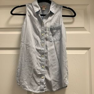 Chambray Button Up Tank
